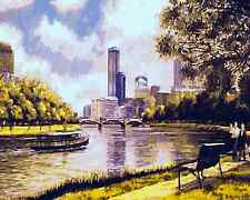 Paint By Numbers Kit 50*40cm A038 Walks along Yarra River AU Stock