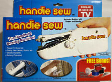 Portable Hand Held Quick Sewing Machine Handie Sew Cordless Repairs