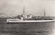 "Royal Navy Real Photo. ""HMS Fermoy"" Hunt-class minesweeper. At Malta. 1937"