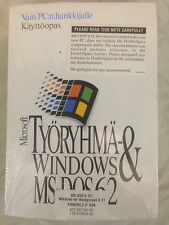 Finnish Microsoft Windows for Workgroups 3.11 & MS-DOS 6.21 Diskettes Manual