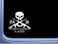 Patriotic Molon Labe Three Percenter D726 Sticker window decal We the People
