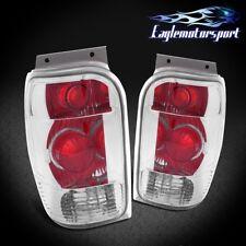 1998 1999 2000 2001 Ford Explorer/Mountaineer Chrome Rear Brake Tail Lights Set