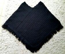 Women's Knit Tassels Knitted Cloak Outwear Sweater Poncho Batwing Cape Size S/M