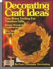 Decorating & Craft Ideas - 1982, December - Easy Brass Tooling, Holiday Fashions