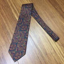 AUSTIN REED LONDON ENGLAND FLORAL NECK TIE  USA MADE FROM 100% ITALIAN SILK