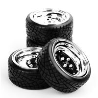 4Pcs Drift Tires&Polypropyle Wheel Rims 12mm Hex For HSP HPI 1:10 RC On-Road Car