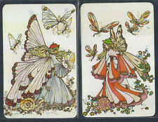 #915.291 Blank Back Swap Card -MINT pair- Sally Gibb, Fairies in pastel colours