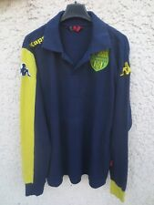 Polo F.C NANTES marine jaune KAPPA shirt collection football manches longues M