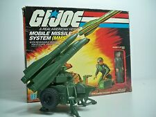 D1502245 MMS MOBILE MISSILE SYSTEM GI JOE 100% COMPLETE UNDECALED W/ BOX
