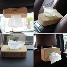 Paper Napkin Holder Clip Leather Home Car Sun Visor Tissue Box Auto Accessories