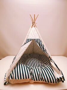 Indoor Large Teepee Style House Bed Tent with Cushion for pet Dog and Cat