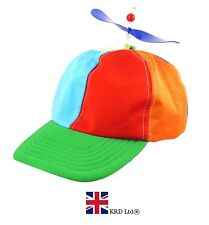 Adult HELICOPTER CLOWN HAT Propeller Cap Rainbow LGBT Pride Fancy Dress Nerd UK