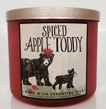 Bath & Body Works Spiced Apple Toddy Scented 3 Wick Candle 14.5oz New!