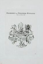 1847 Wappen von Stillfried-Rattonitz 1680 Kupferstich Tyroff