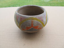 New listing Vintage Native American Indian Red Clay Pottery Bowl Painted Design Pueblo Hopi