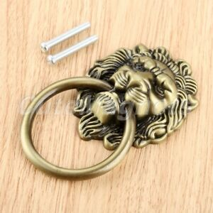 Classic Lion Head Closet Drawer Door Pull Handle Furniture Cabinet Knobs Ring