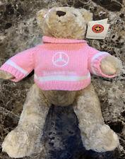 NWT Mercedes Benz - Herrington Teddy Bear Plush Movable Arms - Pink Sweater