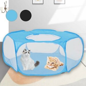 Pet Play Pen Portable Puppy Dog Cat Cage Durable Fabric Foldable Travel Tent