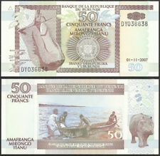 BURUNDI - 50 francs 2007 P# 36g Africa banknote - Edelweiss Coins