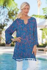 SOFT SURROUNDINGS NEW $89 Belle Batik Tassel Tunic Top Size Medium