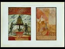 VENICE EXHIBITION POSTERS - 1910 PHOTOLITHOGRAPH - AUGUSTO SEZANNE, DE KAROLIS