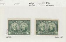 #147 x 2,  12c Confederation F MH Cat $15 Canada mint