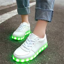 LED Light Up Shoes Trainers Flashing Luminous Sneakers Men Women Dancing 2017