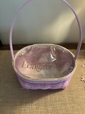 New ListingLongaberger 2021 Pink Easter Basket w/Protector - Mint and ready to ship