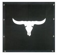 Cattle Skull Bug Screen - Peterbilt 377,378,379 (Extended Hood)