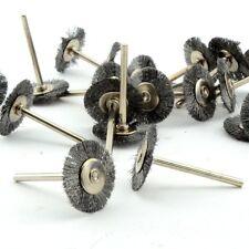 100pcs Steel Wire Flat Wheel Brush Clean Metal Brass Copper Surface Polishing