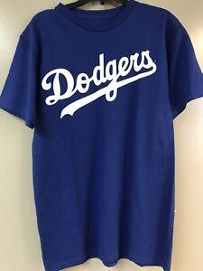BASEBALL T-SHIRT, LOS ANGELES DODGERS, MAJESTIC, ROYAL BLUE, ADULT SIZE S