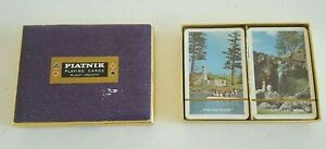 Norfolk Island Lot of 2 Sealed Playing Cards Piatnik Playing Cards with Box