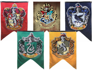 Wizard House Flag Banner for Harry Potter Party Bedroom Wall Door Gift UK
