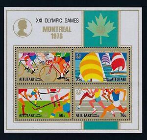 1976 AITUTAKI OLYMPIC GAMES: MONTREAL MINISHEET FINE MINT MNH/MUH