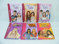 Lot de 6 livres DISNEY Violetta Hannah Montana H.School Music Camp Rock B.rose