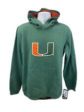 NEW Gen2 Unisex Green/Orange Miami Hurricanes Pullover Hoodie Sz XL