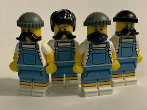 original LEGO parts only - 4 THIEVES in UNIFORMS - genuine lego parts lot