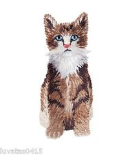 Long Haired Cute Cat Embroidered Motif Patch Applique Sew on/ Iron on