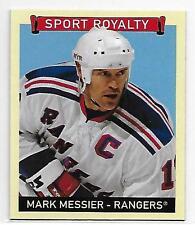 2008 Goudey Sports Royalty #315 MARK MESSIER Mini SP Blue Back New York Rangers