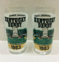 Vintage Kentucky Derby Drinking Glasses Unwashed 1983. New, Collectible