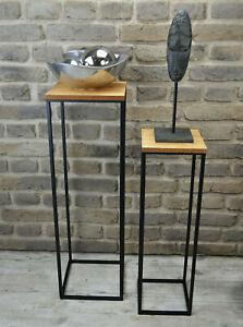 Beistelltisch Satztisch Pflanztisch Pflanzsäule Säulentisch Metall #1B WARE