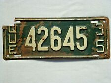1935 QUEBEC Vintage License Plate # 42645
