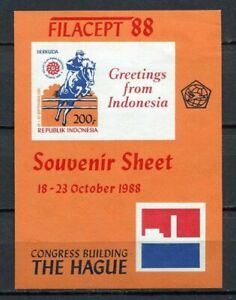 38368) INDONESIA 1988 MNH** Filacept s/s Imperforated ND