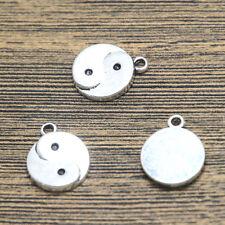 15pcs--Yin Yang charms, Antique Tibetan silver tai chi Charm Pendant 18x15mm