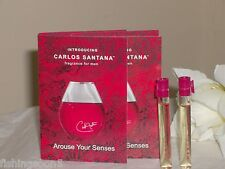 CARLOS SANTANA~MEN~ 2PC EAU DE TOILETTE SAMPLE SPLASH VIAL LOT-BRAND NEW