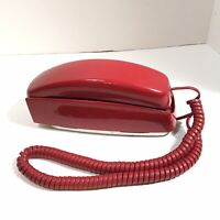 Vintage Wall Phone Trimline Telephone Push Ruby Red Western Electric Bell Phone