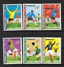 ST THOMAS & PRINCE Sc 647a-8a NH ISSUE of 1982 SPORTS Soccer Futbol