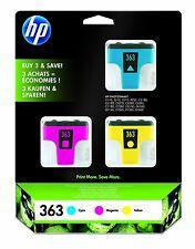 Original Genuine HP 363 Multi Pack 3 Colour Printer Ink Cartridges CMY CB333EE
