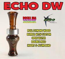 Echo Duck Call Dymond Wood Barrel w/Polycarb Open Water Double Reed & Alum Band