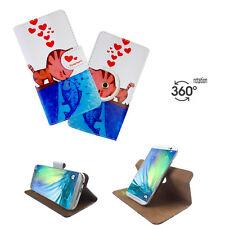 MEDION LIFE X6001 - Handy Schutz Etui Tasche - 360° XL Katze Liebe